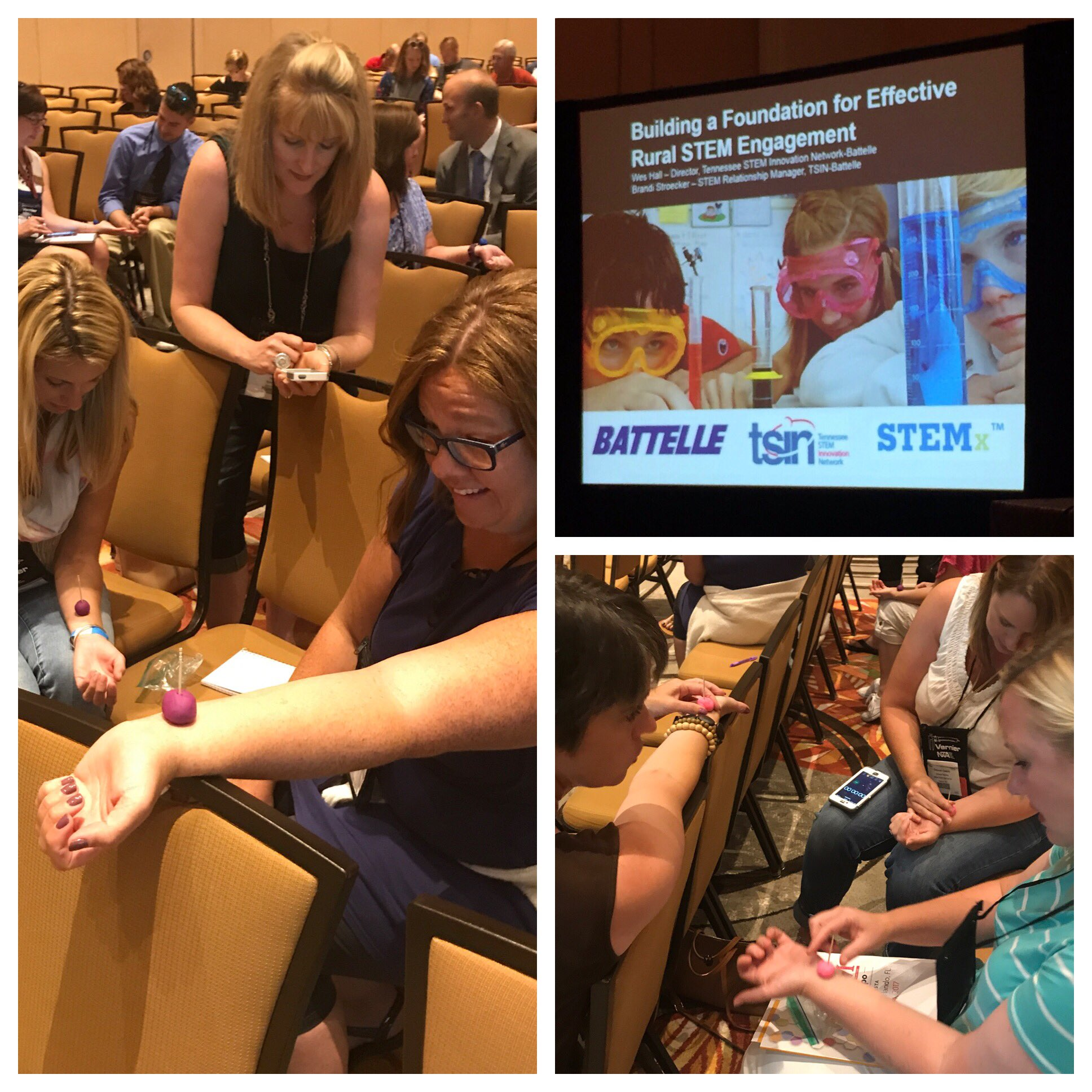 We had a blast sharing how @LearningBlade fits into our rural #STEM strategy and demonstrating a hands-on pulse lesson! #STEMforum @NSTA https://t.co/jCO7R30OA2