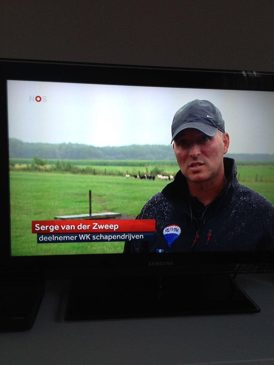 Dames en heren, de Nederlands kampioen schapendrijven: Serge van der Zweep!