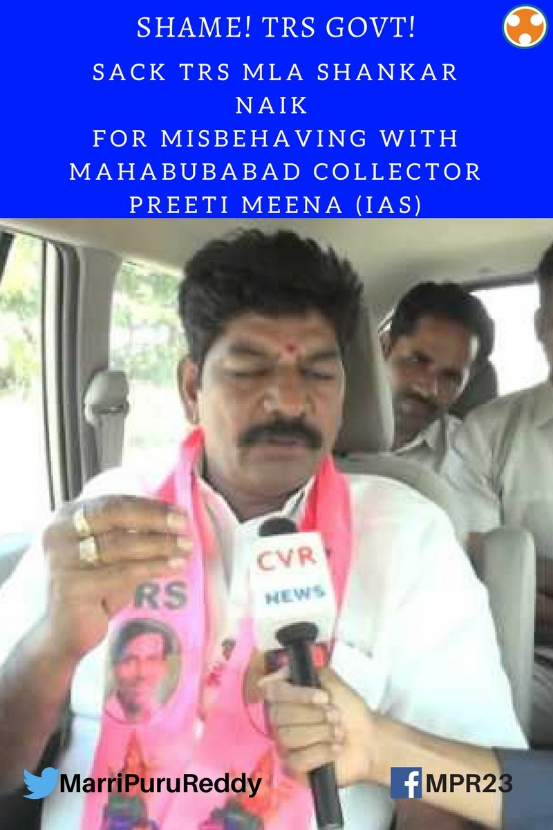 @KTRTRS sack ur #corporators who attack #commonman #sack #MLA #ShankarNaik 4 misbehaving wid @Collector_MBD #PreetiMeena  #IAS  @OfficeOfRG<br>http://pic.twitter.com/L3deNZEbIy
