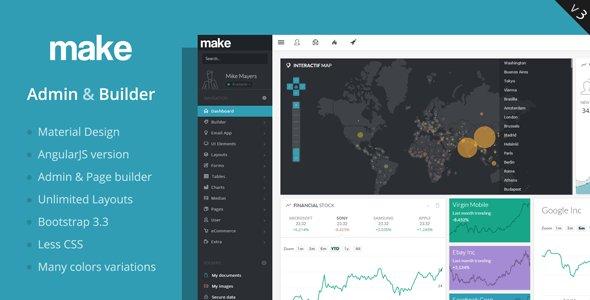 Make v3.4 – Admin Template & Builder – HTML &AngularJS