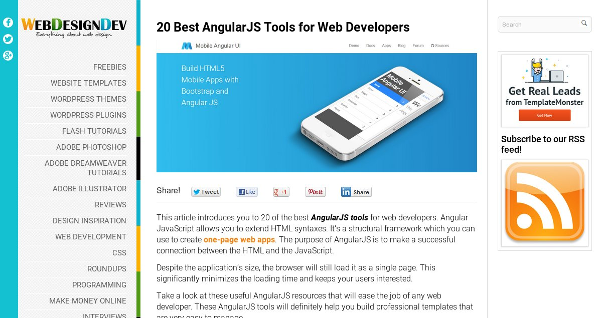 20 Best AngularJS Tools for Web Developers
