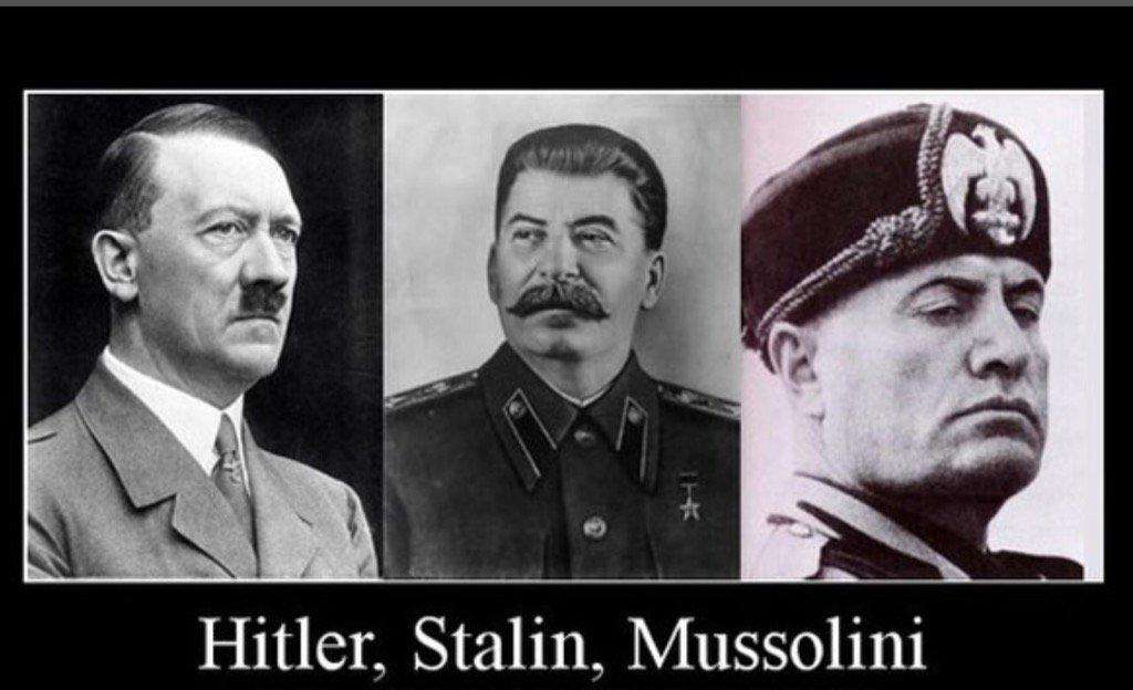 Resultado de imagem para Hitler mussolini e Stalin