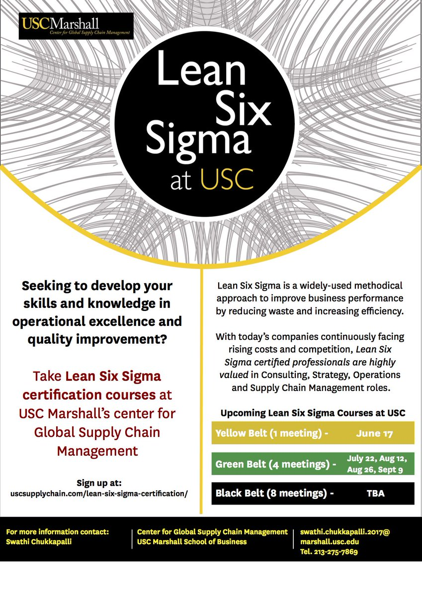 Usc gscm on twitter our center is offering enrollment in our usc gscm on twitter our center is offering enrollment in our prestigious lean six sigma green belt certification course xflitez Choice Image