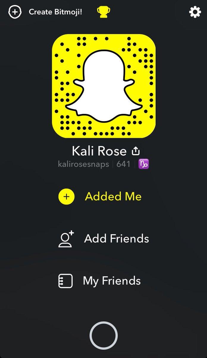 Kali Rosen Snapchat