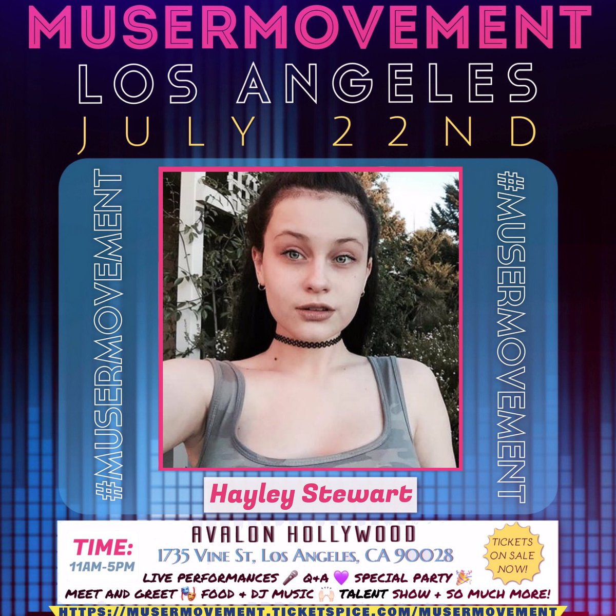 Musermovement musermovement s twitter profile twicopy whos excited to see hayley stewart because shell be at musermovement la m4hsunfo