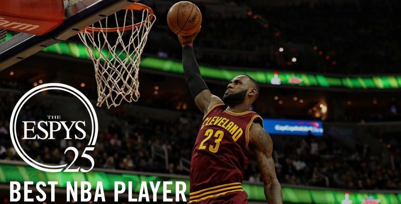 Congratulations to @KingJames on being named Best NBA Player at the @ESPYS! #StriveForGreatness   DETAILS: https://t.co/KKwhl8LAji