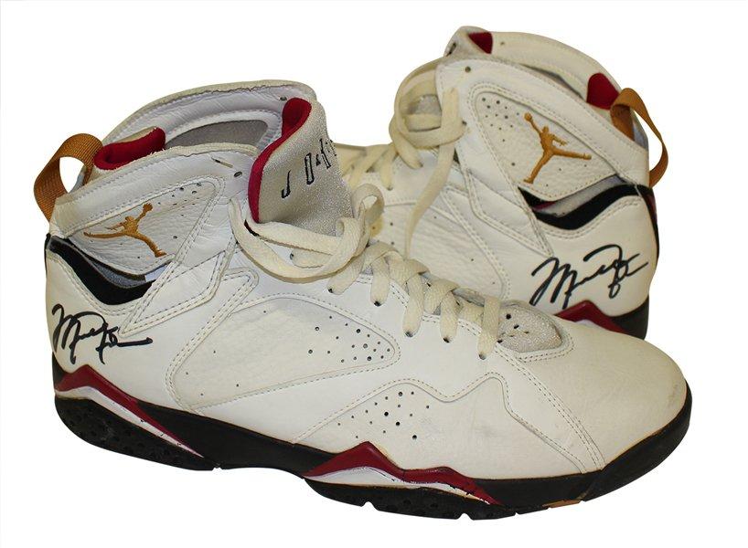 5f3f0a62399 Michael jordan's game-worn air jordan 7s up for auction: - scoopnest.com
