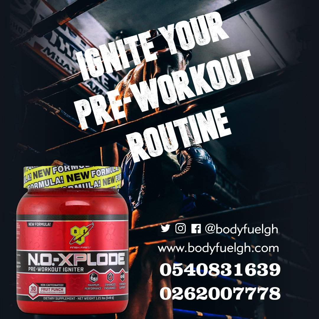 Bodyfuelgh On Twitter Ignite Your Pre Workout Routine With Our Bsn N O Xplode Nf 30 Servings Vitamins Supplements Preworkout Fitness Gym Abs