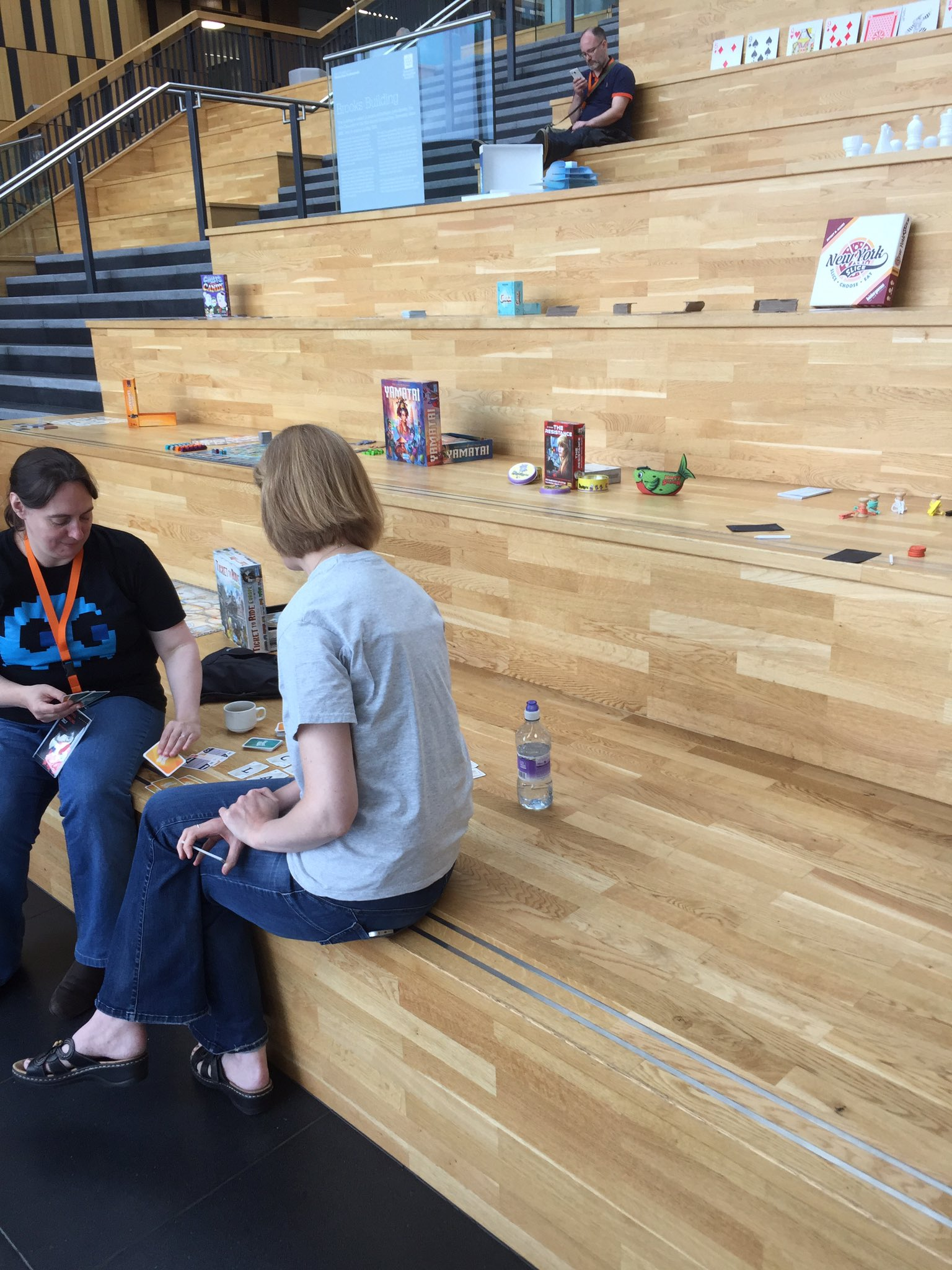 Board game cafe is open :) #playlearn17 https://t.co/n4EuSisfMR