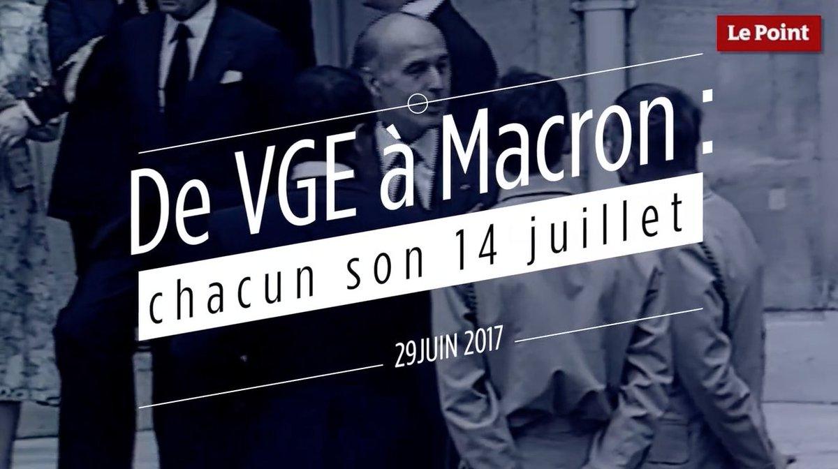 De #VGE à #Macron : à chacun son 14 Juillet https://t.co/OYqpKz1xqy