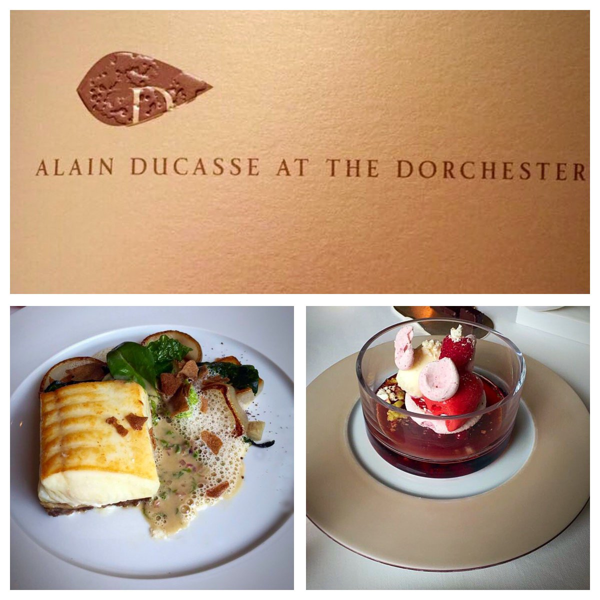 A superb meal at Alain Ducasse @TheDorchester Incredible food and impeccable service!  #alainducasse #london #thedorchester #luckypeople <br>http://pic.twitter.com/sYaN9NHOQi