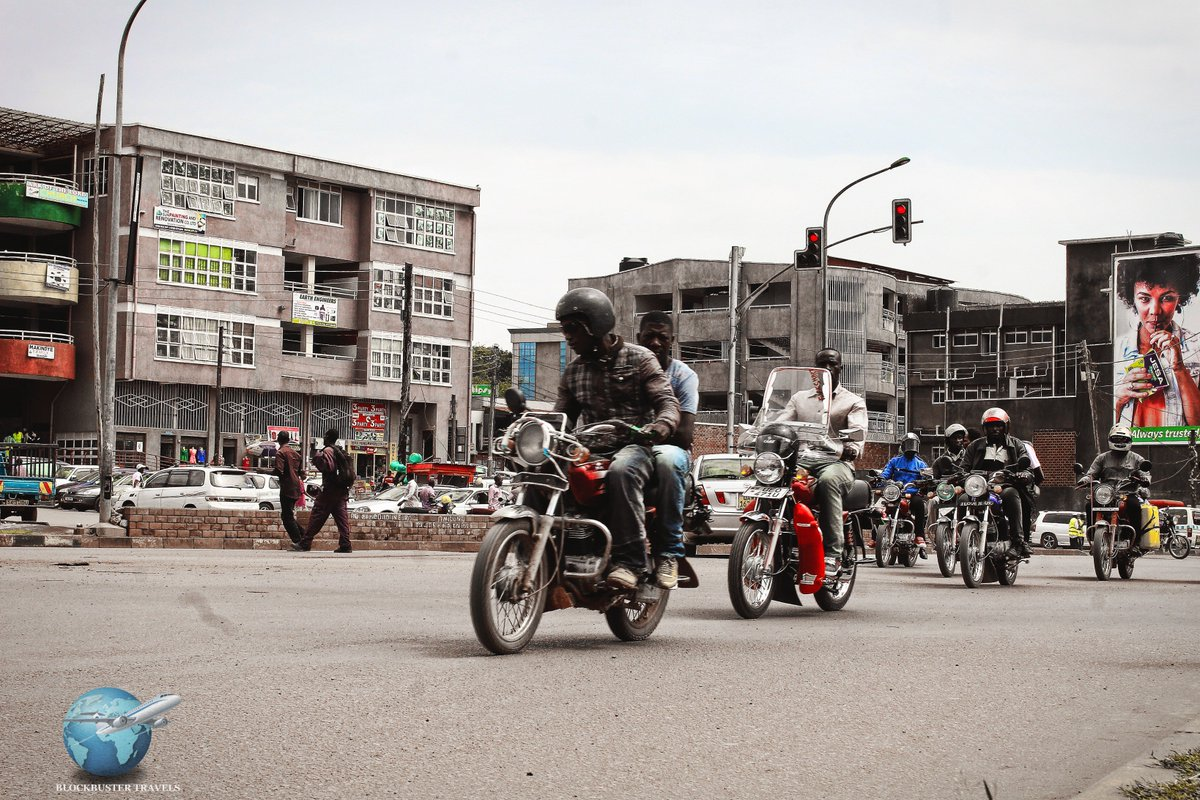 Boda Bodas are the fastest means of transport around Kampala.