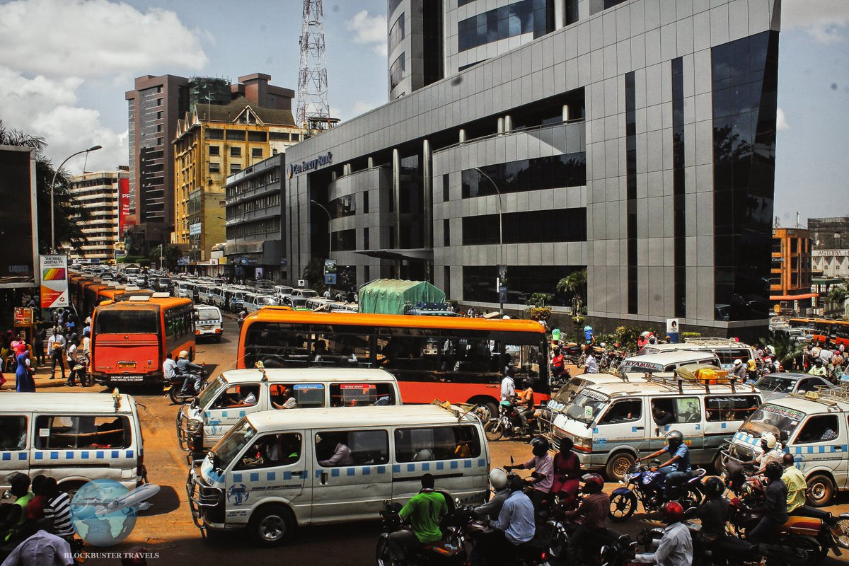 Buses and taxis transport people to different places around Kampala. They reach as far as the most remote places in Uganda including villages and suburbs.