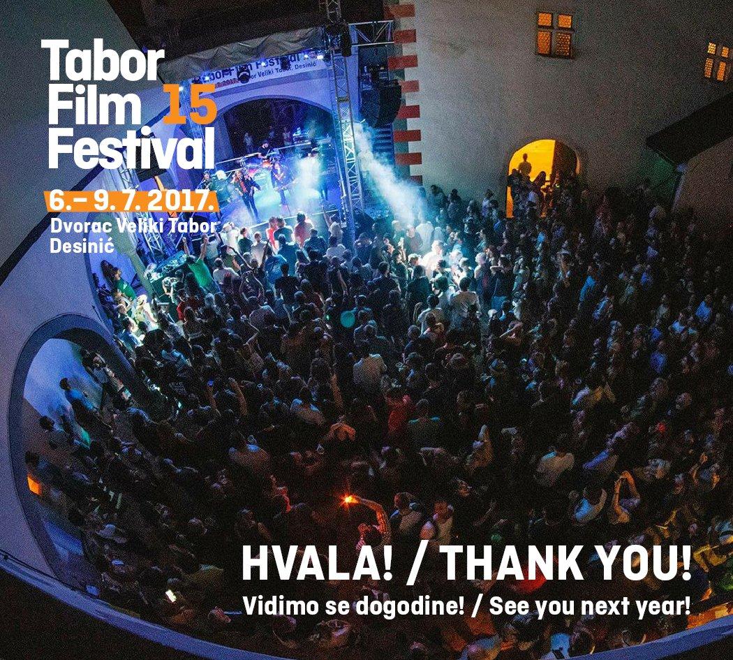 Fantastično 15. izdanje Tabor Film Festivala. Hvala svima koji su nas posjetili i koji su na bilo koji način sudjelovali u realizaciji!