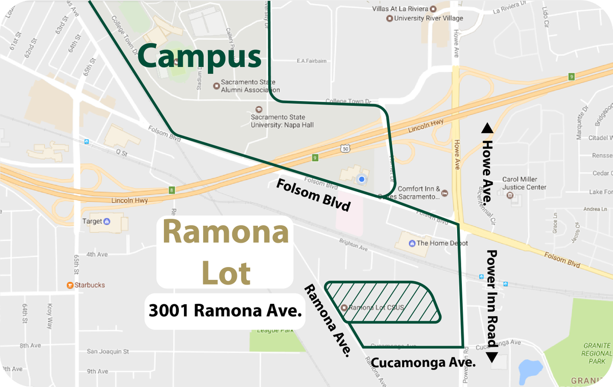 Sac State Utaps On Twitter The Ramona Lot Is Easy Park Right