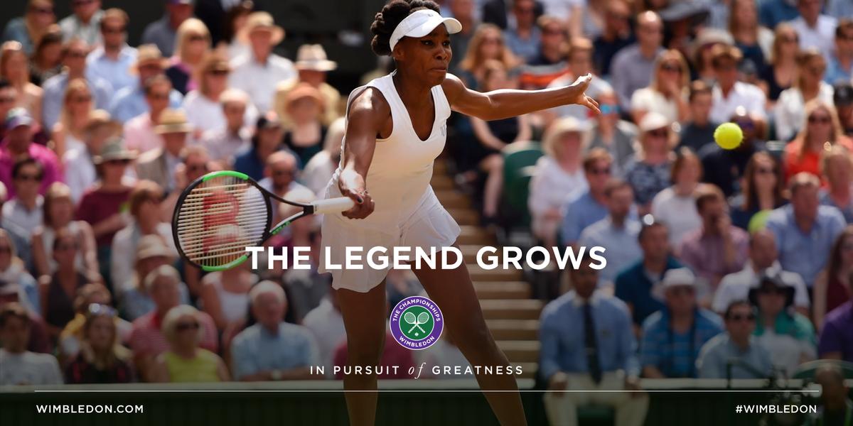 Ageless.  Venus Williams ends Johanna Konta's fairy tale run 6-4, 6-2 to reach her first #Wimbledon singles final since 2009