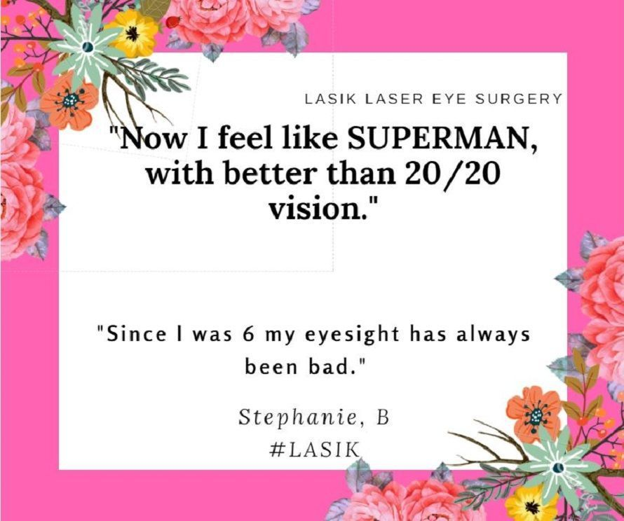 Stephanie is so ecstatic and over moon with her Superhero vision, after having #LASIK . #FreedomToPlay  http:// buff.ly/2um6g9Q  &nbsp;  <br>http://pic.twitter.com/hDW8Xa2AIl