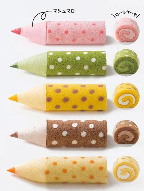 """""""色鉛筆""""のようなマシュマロと食べるロールケーキ 「色えんぴつろーる」大阪新阪急ホテルに登場 -"""