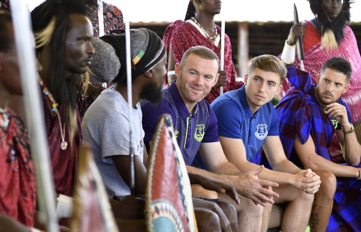 Wayne Rooney given special welcome dance by Maasai warriors in Tanzania https://t.co/slpHlLTRn3