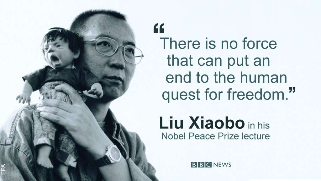 Chinese Nobel laureate Liu Xiaobo, jailed for his pro-democracy work, dies in hospital aged 61, officials say https://t.co/k0A1OViGqM