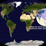 There are more people living inside this circle than outside of it https://t.co/3upJgi06lQ via @brilliantmaps