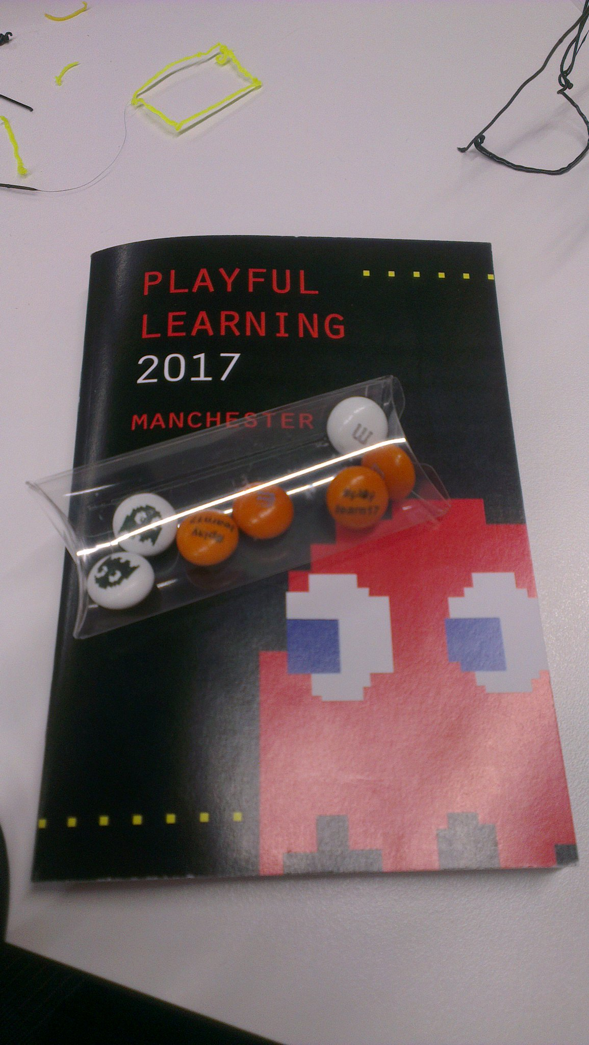 Great & fascinating day at #playlearn17 lovin the custom m&m's! https://t.co/jwntu3W2ej
