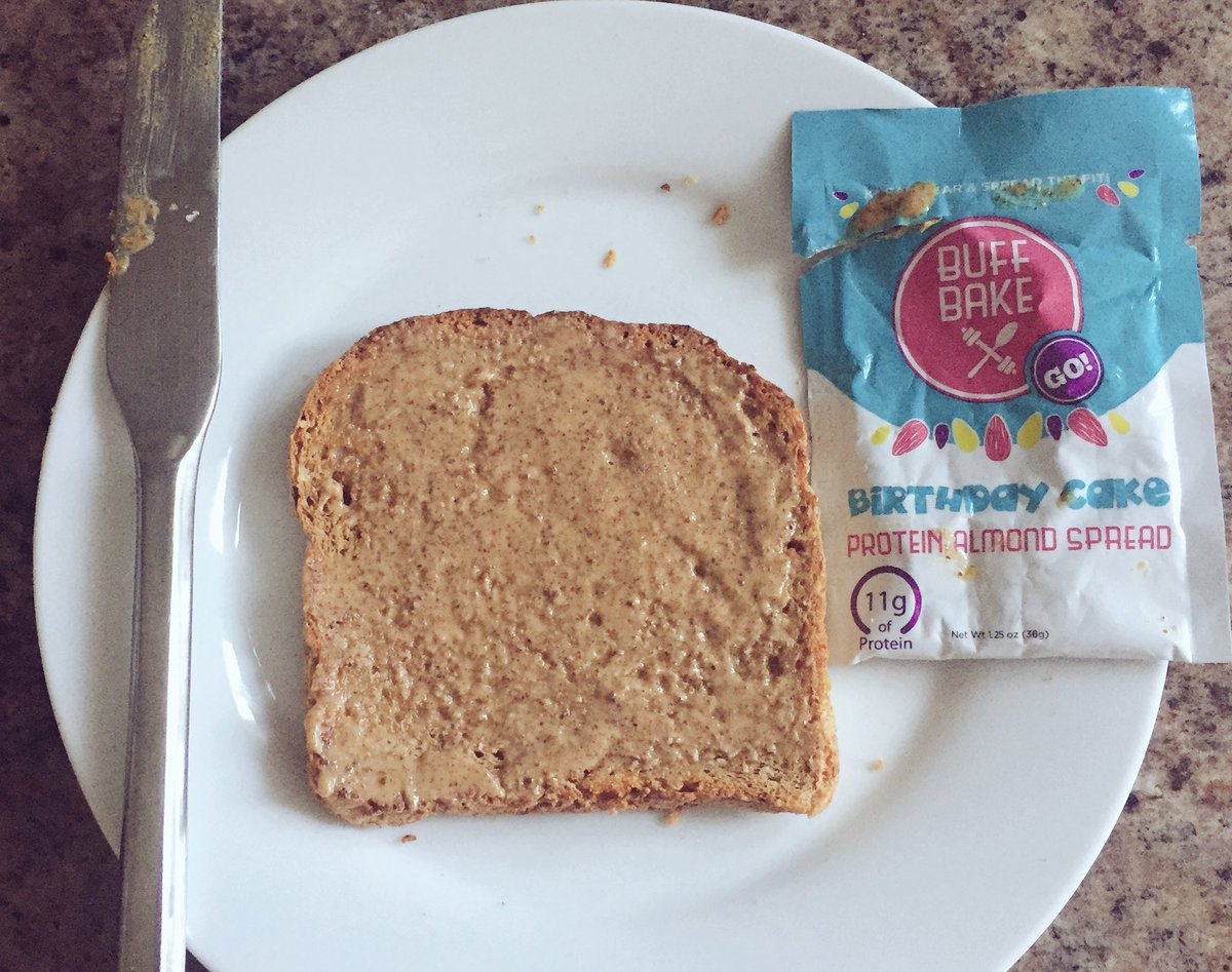 BuffBake Birthday Cake Almond Butter From ElliePiggott Pictwitter QALO2VW17u