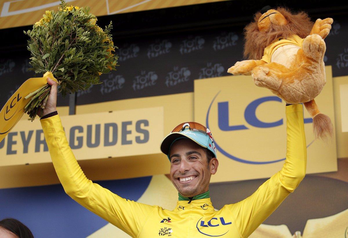 Fabio Aru è maglia gialla al Tour de France 2017, l'Italia impazzisce di gioia! FOTO e VIDEO