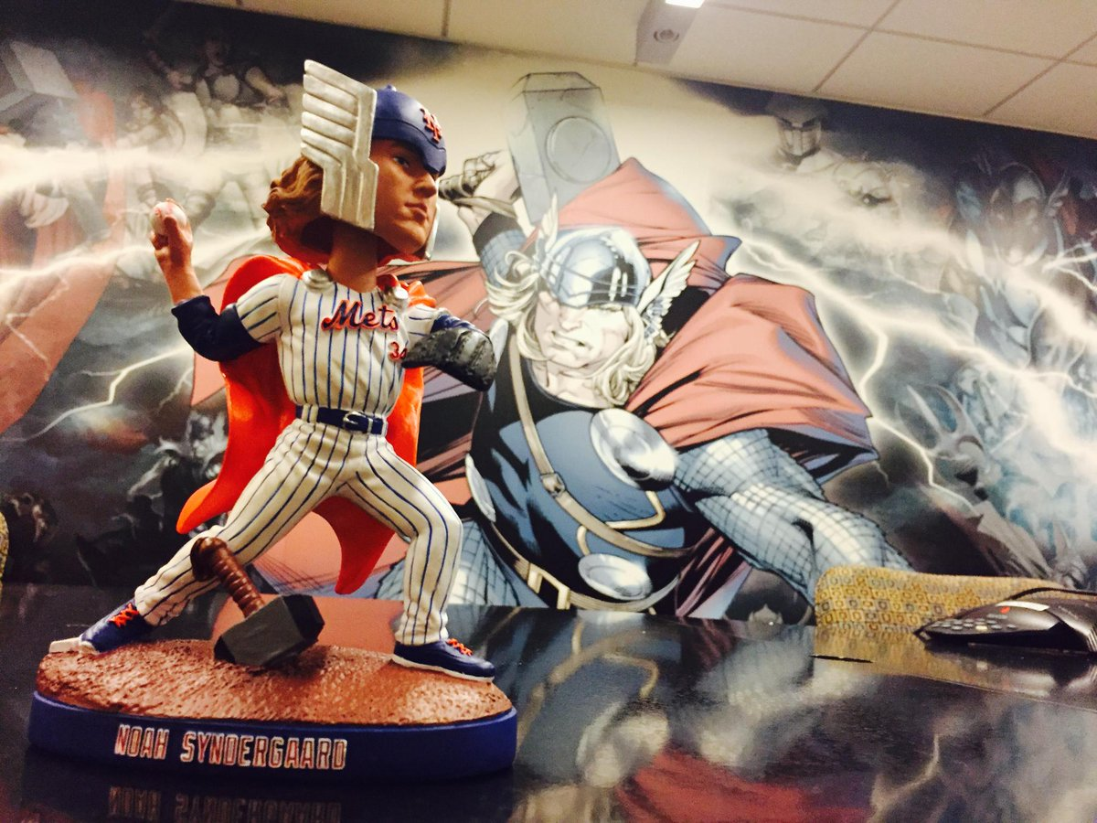 RT for your chance to win an autographed @Marvel presents @NoahSyndergaard as #Thor bobblehead. https://t.co/N45ggiDX3C https://t.co/5WIgUx3XXx