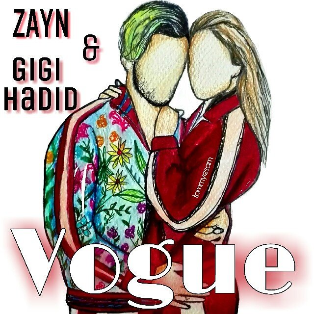 I finished my new sketch for @zaynmalik &amp; @GiGiHadid by @voguemagazine  #GigiHadid #ZAYN #Voguemagazine<br>http://pic.twitter.com/eOKJ1EbMSS