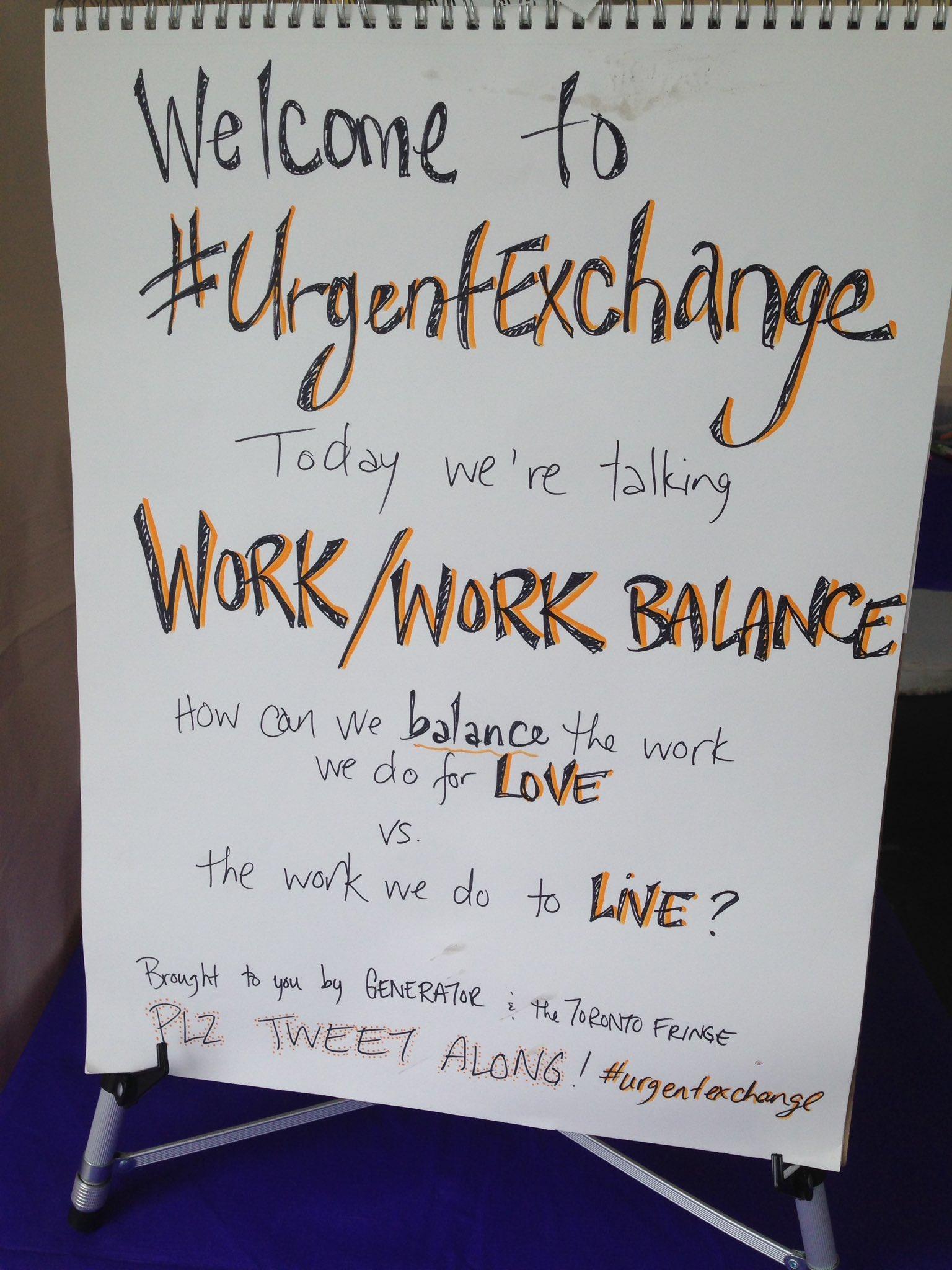 Getting started w today's WORK/WORK BALANCE #urgentexchange @Toronto_Fringe #fringeto https://t.co/B4KArprtJ6