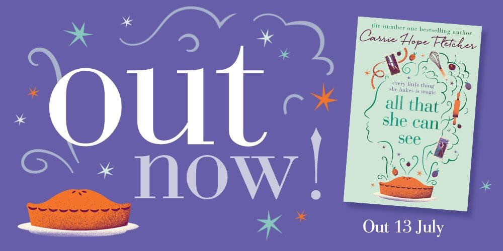 AHHH, Happy Publication Day to @CarrieHFletcher!!! I need a copy!!! Ordering it right now https://t.co/pd2j5KiHSl https://t.co/N4GeLrtZ6V