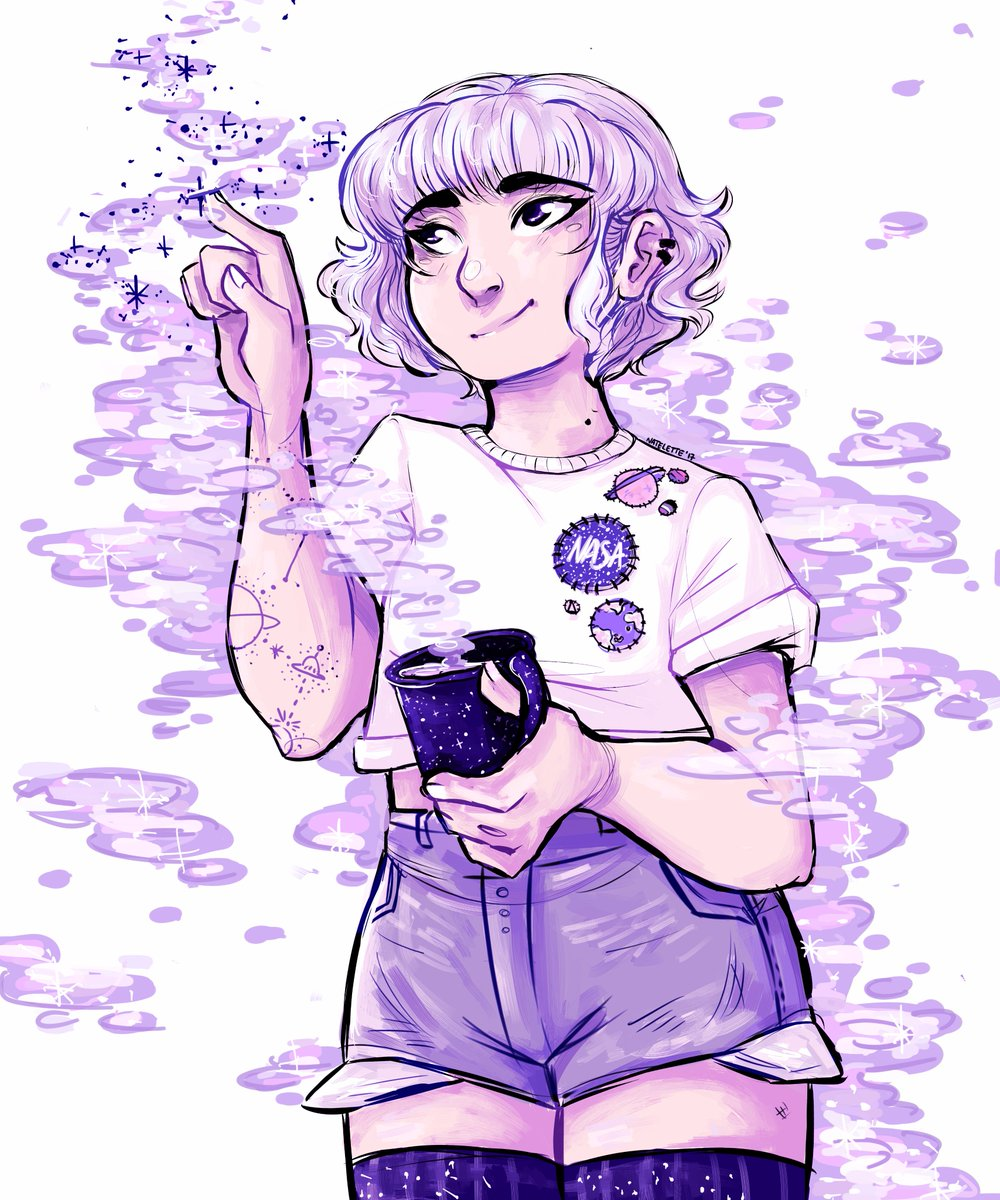 Nat On Twitter An Art Trade I Did With My Friend Aesthetic
