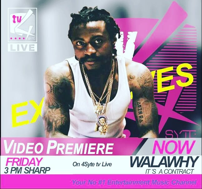 Exclusive video premiere tomorrow at 3pm sharp  @wala_why  #ItsAContract https://t.co/9jGifM3Sk6