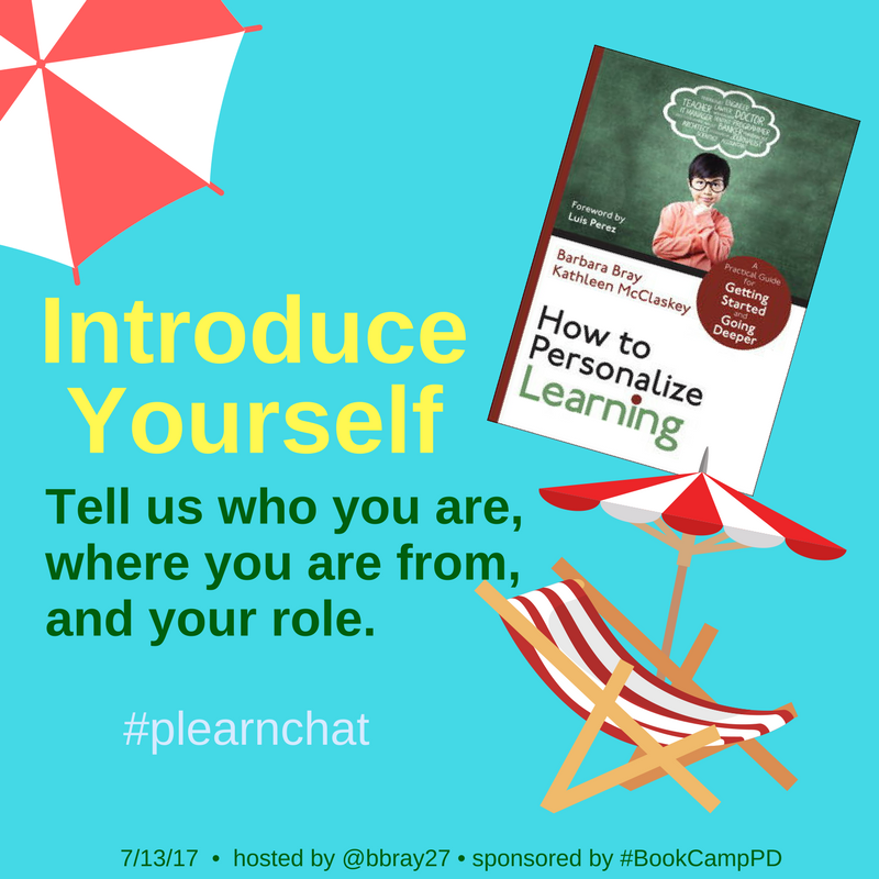 Welcome to our Summer Book Study on How to Personalize Learning: Ch 3 & 8! Introduce yourself in #plearnchat & tell us where you are from. https://t.co/6Y5q5phZff