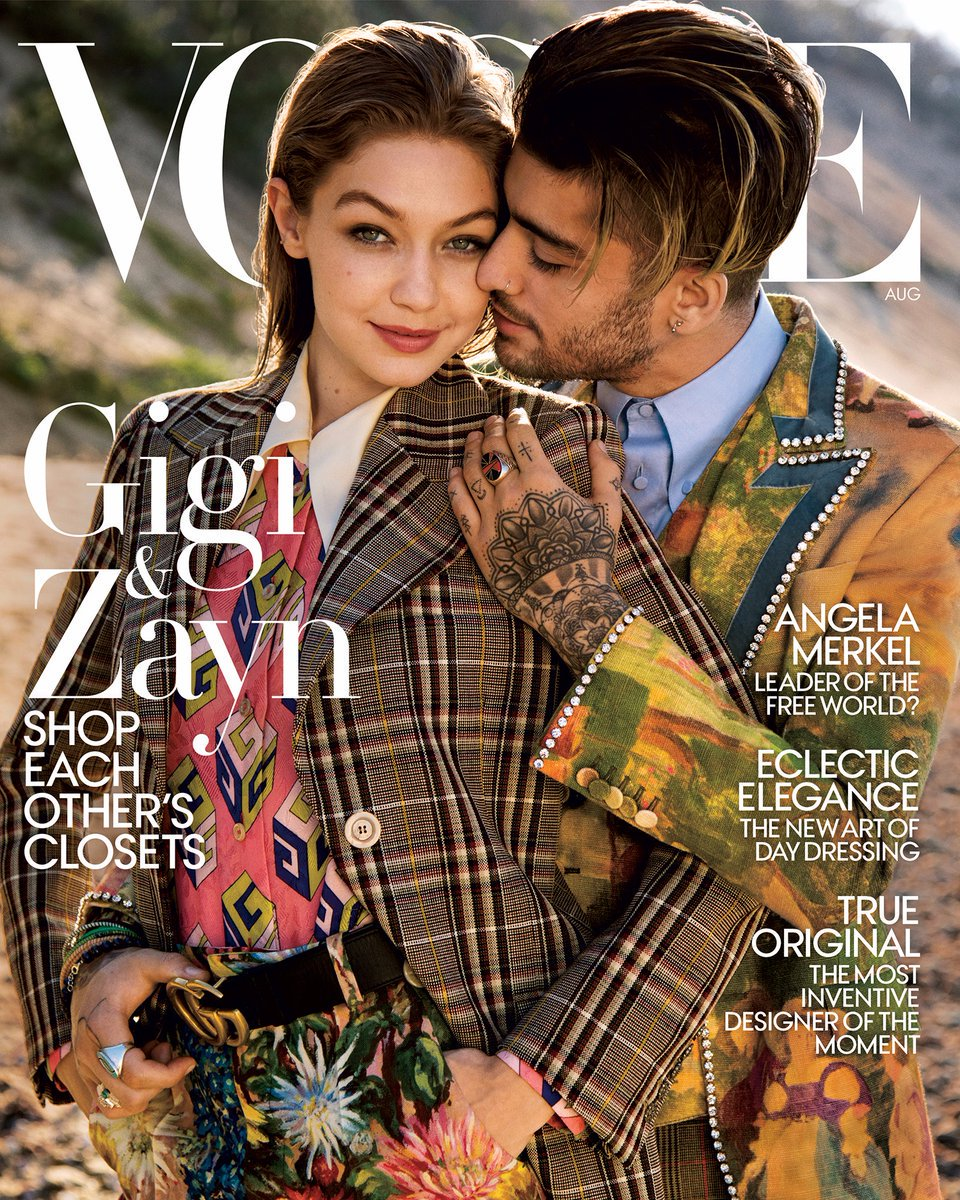 #GigiHadid and #ZaynMalik grace the cover of Vogue and talk sharing clothes!  https://www. facebook.com/worldmusicawar ds/posts/1391044507643325 &nbsp; … <br>http://pic.twitter.com/HxzXRJG2G1