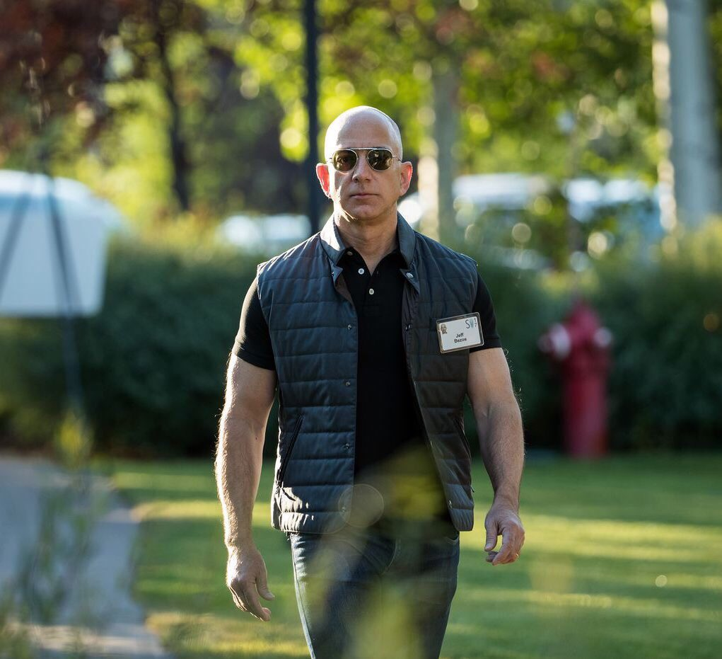Jeff Bezos New Look Might Prove He Can Be His Own Body Guard