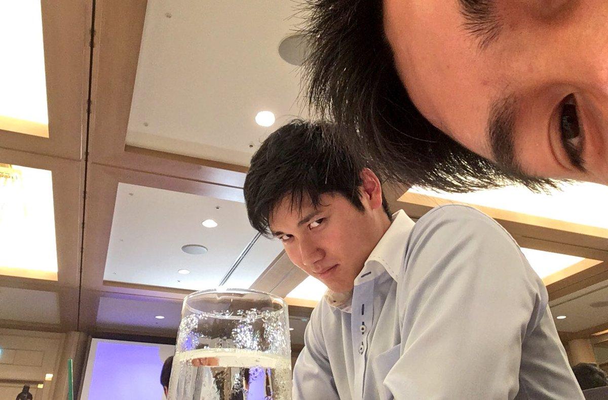 今日は名古屋ドームでマイナビオールスターゲーム2017✨  これから移動して準備しますよん✨  沢山写真撮って普段見れない姿も含め→写真アップしますね✌️  ヤスさんのTwitterの為ならと快く了承してくれた翔平くん✌️  #AllStarGame