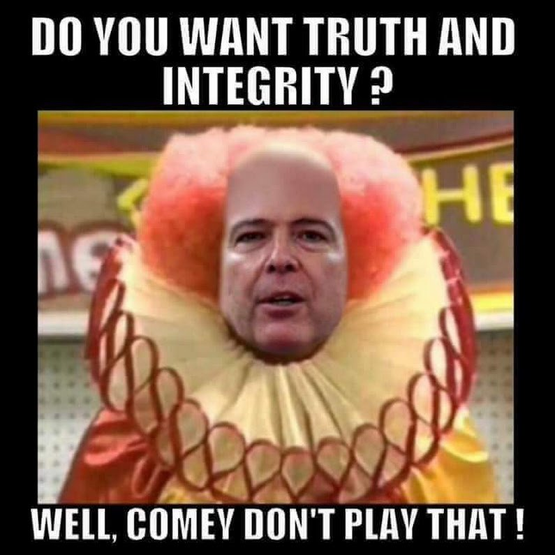 Comey the Clown writing a book