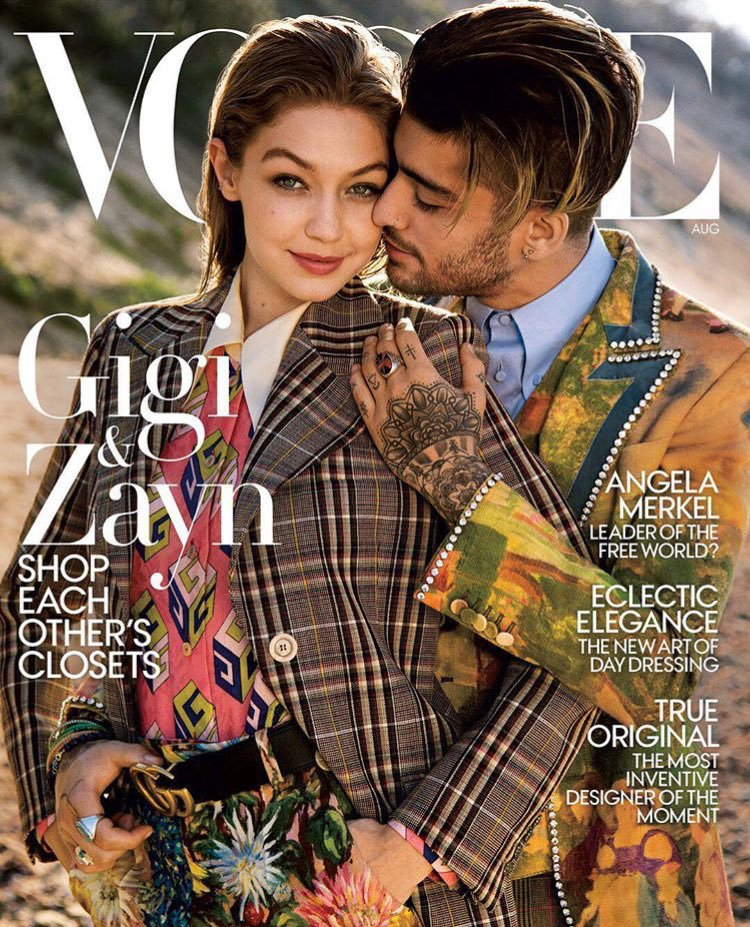#GigiHadid joins #Zayn on the August &#39;17 cover of @voguemagazine.<br>http://pic.twitter.com/NOCHr7IoNZ