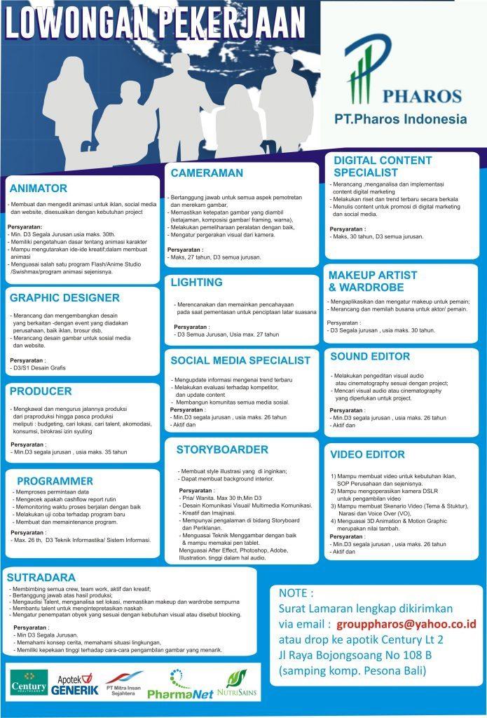 Tel U Career On Twitter Jobs Pt Pharos Indonesia Https T