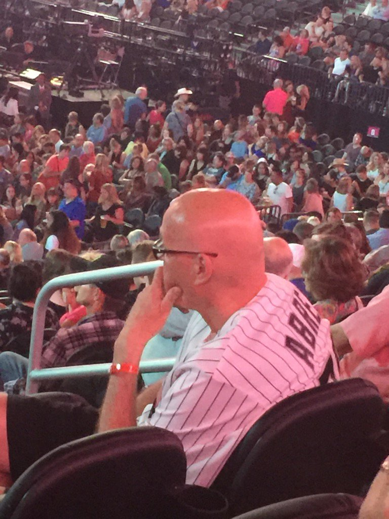 Caught @notthefakeSVP contemplating life in a Bobby Abreu jersey at the Tim McGraw concert in Vegas tonight. #SVP <br>http://pic.twitter.com/XlY5vcPNsW