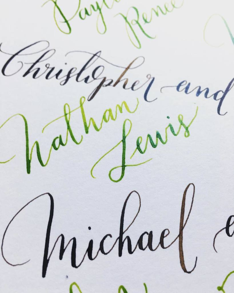 Moderncalligraphy on topsy one