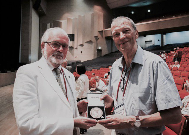 test Twitter Media - Prof Luke Drury from @dias_astronomy presents the DIAS O'Ceallaigh medal to Prof. Christian Spiering yesterday https://t.co/zHVtAm0ulE https://t.co/hUS6Elftrx