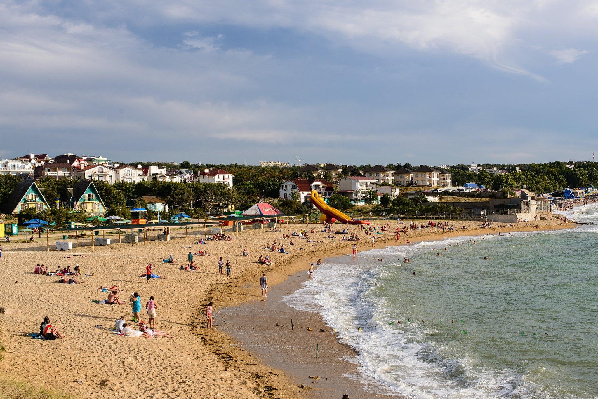 Песчаное крым фото пляжа