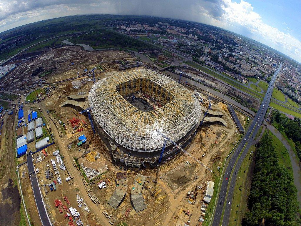Саранск, стадион в процессе строительства