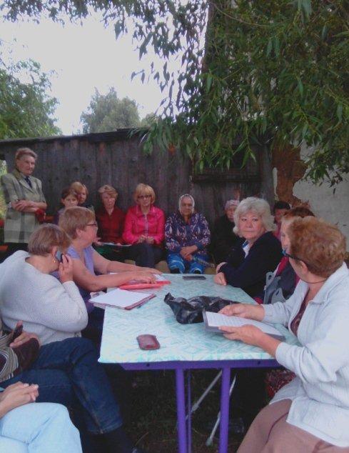 Ирина Тибелиус провела встречу с жителями