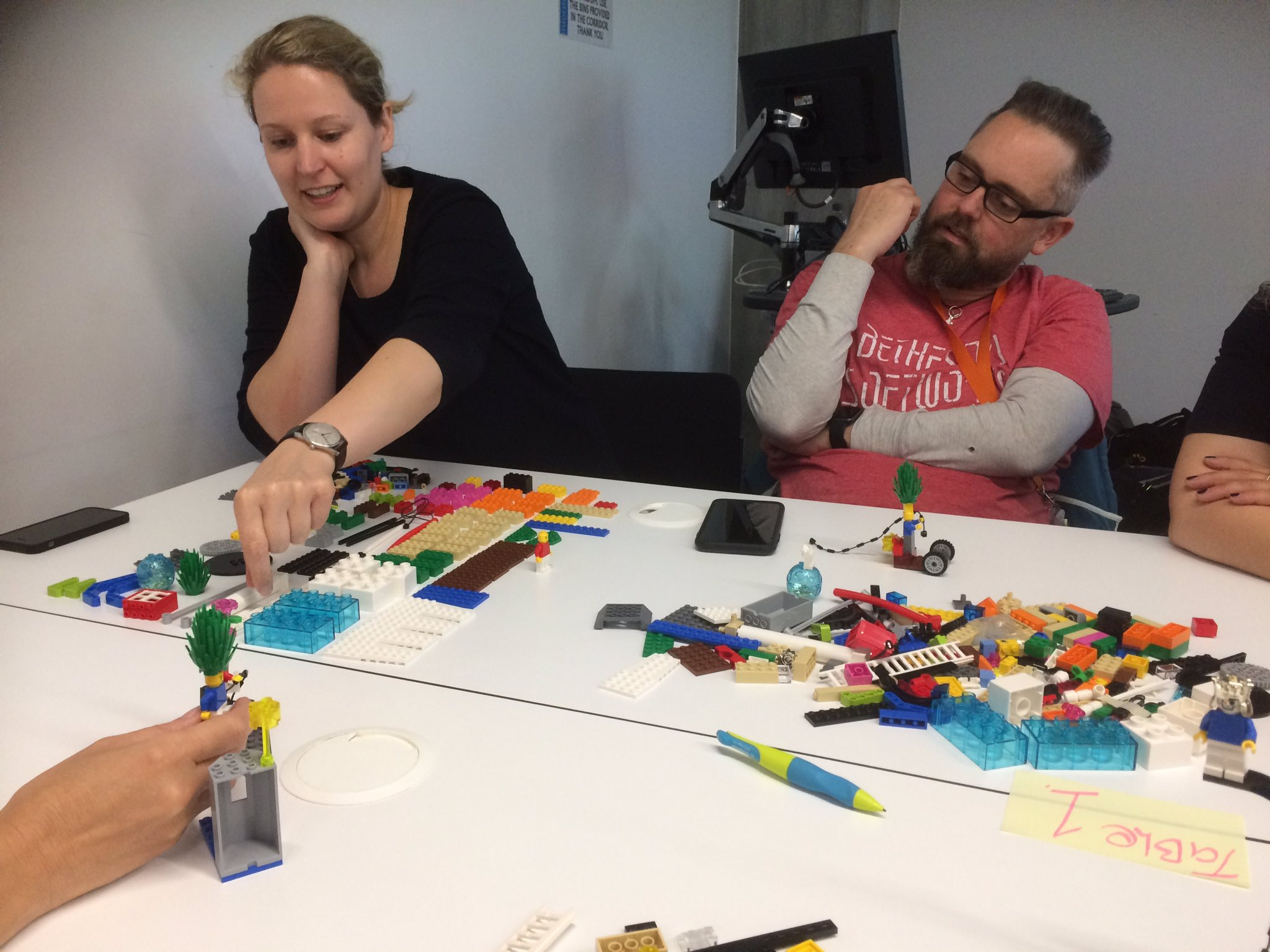 Lego Serious Play therapy session. Reflecting on my role in a team. @playlearnconf #Playlearn17 https://t.co/AGSnCfHroX