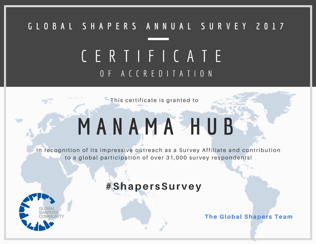 Manama Hub are proud to be a @GlobalShapers survey affiliate! Thank you all who took the time to share your responses #Bahrain #ShaperSurvey <br>http://pic.twitter.com/6KNoqasvqe