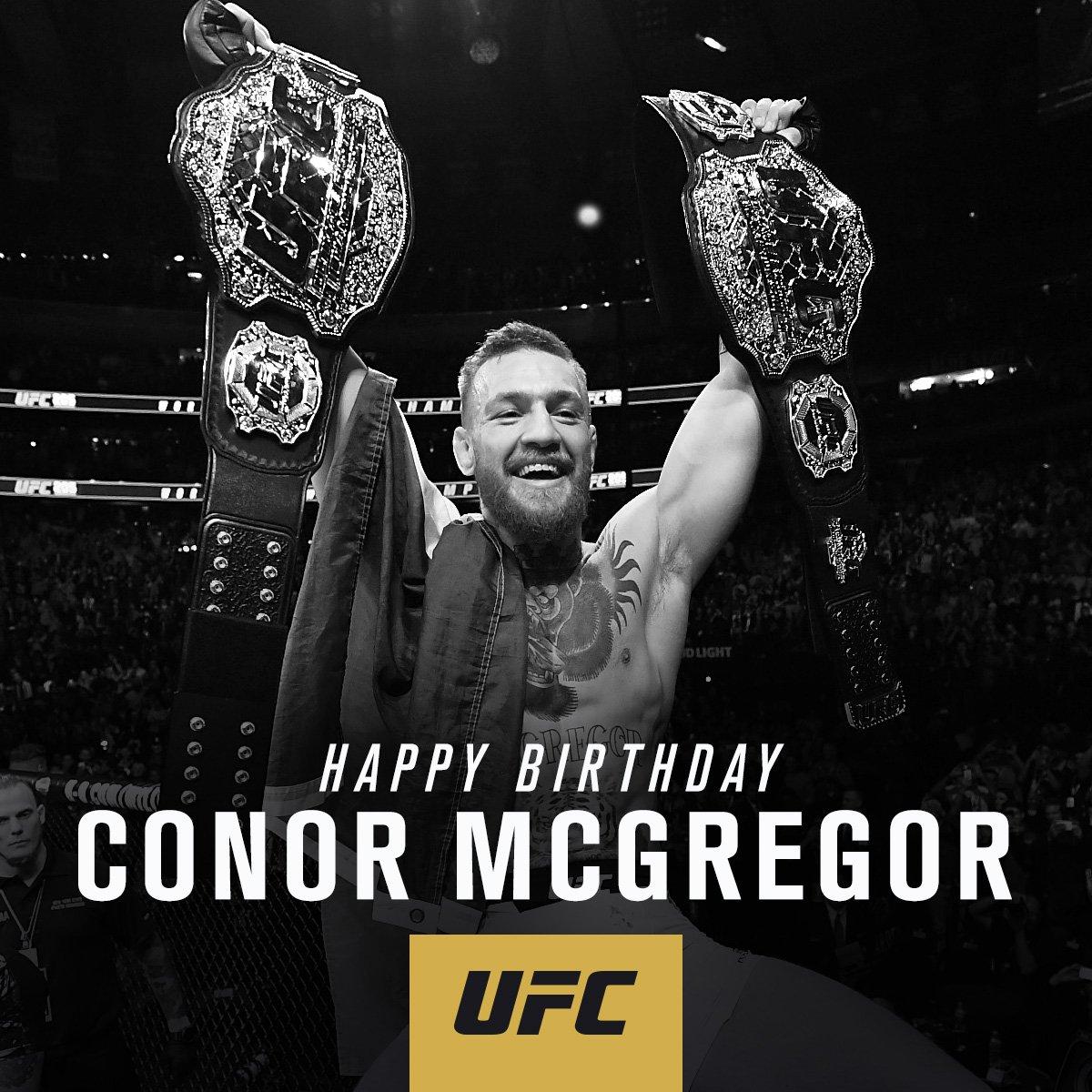 RT to the lightweight champion @TheNotoriousMMA a Happy Birthday‼️ �� https://t.co/gYojHSLwRA
